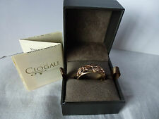Clogau Welsh Gold, 9ct Rose & Yellow Gold Tree of Life Band Ring, size M 1/2