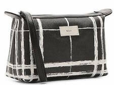 NWT $78 LAUREN RALPH LAUREN Black & White SWANFIELD Cosmetic Pouch Travel Bag