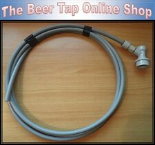 3/8 Beer Gas 3m Pipe Ball Lock Disconnect & JG Push-Fit Corny Keg CO2 Regulator