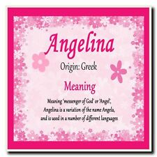 Angelina Personalised Name Meaning Coaster