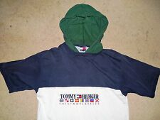 VINTAGE TOMMY HILFIGER SAILING CLASSICS HOODIE SHIRT YOUTH XL ADULT SMALL COTTON