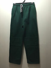 BNWT Older Boys Sz 16 Bottle Green Double Knee School Uniform Fleece Track Pants