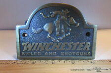 Solid Brass Winchester Rifles And Shotguns Plaque