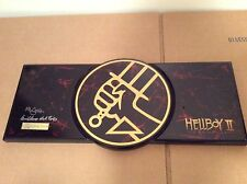 SIGNED x2 Hellboy 2 Sword Replica Limited #d Guillermo Del Toro Mike Mignola Pic