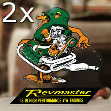 """2x pieces Revmaster sticker decal bug beetle bus aircooled volksrod 5.25"""""""