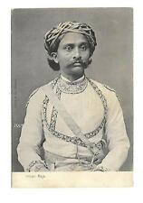 India  Vintage Postcard  Social History Raja Portrait Real Photo