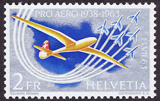 SWITZERLAND 1963 ( 1st ALPINE FLIGHT 1913 ) TRAIL ERROR - DUCTOR BLADE FLAW MNH