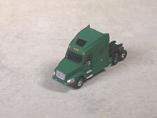 N Scale 2010 Green Volvo Semi-truck, Semi-Tractor with sleeper.