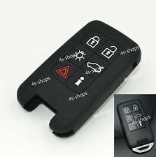 6 Buttons Black Silicone Case Remote Smart Key Cover For Volvo XC60 XC70 S40 S60