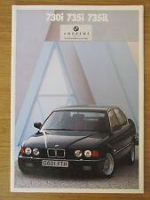 FOLLETO de 1989 BMW 7-Series 730Ii, 735i y 735iL