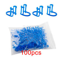 100Pcs/Bag Dental médico Disposable Cotton Roll Holder Blue Clip