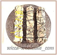 "3 White Sage Smudge Kit Burner with 5.5"" Tibetan Burner for Incense Stick, Cone"