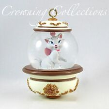 Disney Store Marie The Aristocats Snow Globe Ornament Glitter Snowglobe 2010 Cat