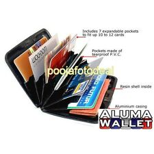 Brand New Aluma Credit Debit ATM Card Money Holder Unisex Wallet Water Resistanc