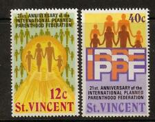 ST.VINCENT SG372/3 1973 21st ANNIV OF INT PLANNED PARENTHOOD MN