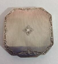 Vintage Italian 925 Sterling Silver Octagonal Compact W Mirror