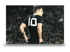 Dan Carter Signed 12x8 Photo New Zealand Rugby Union Autograph Memorabilia + COA