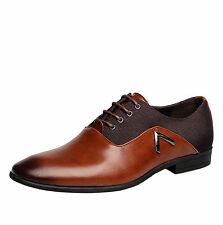 Men Business Dress Formal Leather Shoes Flat Oxfords Loafers Lace up pointy toe