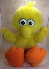 Vintage Sesame Street Big Bird Tyco Plush Stuffed Animal Baby Toy 1996