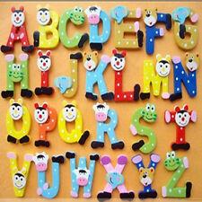 WDS A-Z Bois Alphabet Aimant enfants éducatifs Jouets bébé 26pcs Lettres