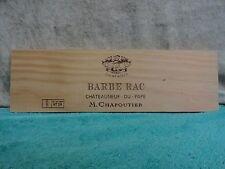 BARBE RAC DU PAPE CHAPOUTIER WOOD WINE PANEL END