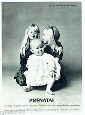 PUBLICITE ADVERTISING 1016  1963  Prénatal layette bébé enfants