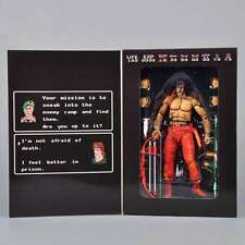 17cm NECA Model Toys Sylvester Stallone Rambo First Blood PC Game Figure 53502