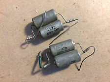 4 Vintage .027 uf 600v Oil Capacitors PIO Guitar Tone Caps TESTED .04