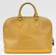 Used Authentic Louis Vuitton Alma Epi Yellow LV Bag