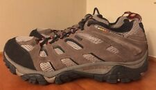 G49 Merrell Mens Sz 9.5 Moab Dark Brown Leather Waterproof Trail Hiking Shoes