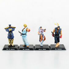 4Pcs Street Fighter Chun-Li Ken Ryu Vega PVC Action Figure Model ClassicToy Doll