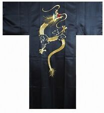 "DM-S00389-01-BK KIMONO with Obi M(58"") Embroidery Made in JAPAN Japanese MEN's"