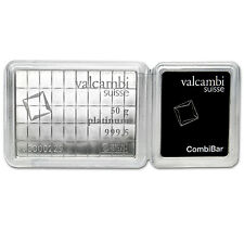 50x 1 gram Platinum Valcambi CombiBar™ - In Assay - SKU #75736