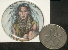 Miniature Southwest Native American Indian Warrior Brave Plate Platter CDD534