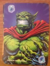 Marvel Overpower Monumental Intellect Level 2 Abomination Power Card X2