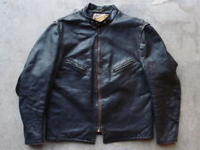 Vintage Schott Bros Perfecto Cafe Racer Leather Jacket 46 Distressed Moto Coat