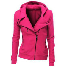Women Slim Fit  Zip Up Top Hoodie Hooded Sweatshirt Coat Jacket Sweater Jumper
