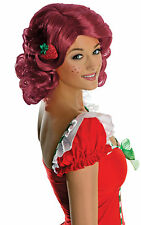 Strawberry Shortcake Deluxe Cartoon Licensed Women Costume Wig