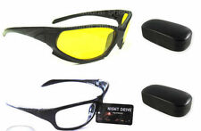 Magjons White + Yellow Lens Goggles Night Driving Vision Sunglasses Sun Glasses