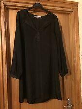 Forever 21 Black Silky Dress UK Size 14
