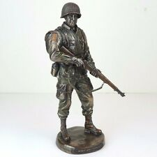 "US Army War Soldier Honor & Courage Bronze Figurine Miniature Statue 11""H New"