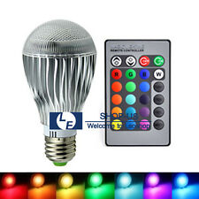 New 9W E27 RGB LED 16 Colors Changing Magic Light Lamp Bulb With Remote Control