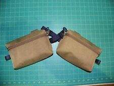 Pair of Custom Coyote Brown Hip Belt Pocket Pouches for USMC ILBE Main Pack