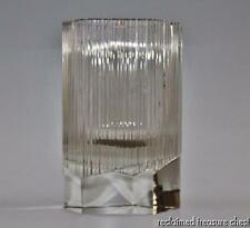 RARE Iittala Tapio Wirkkala Glass Clear Ribbed Vase #3506 1964 iF Design Winner
