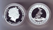 2003 SILVER Proof $10 Kangaroo Coin Port Phillip ex Masterpieces in Set