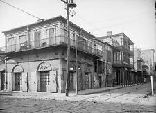 "NEW ORLEANS, 1909 Photo, Old Absinthe House, Saloon, antique,Bourbon St, 16""x11"""