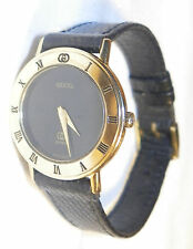 GUCCI WOMEN GOLD WATCH 3001L BRN LEATHER BAND GREAT CLEAN CONDITION RETAIL $2000