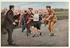 Dorando Pietri ITALY Marathon 1908 LONDON OLYMPIC GAMES CARD IMAGE 1936