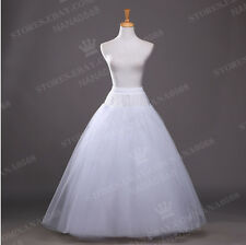 White No-Hoop Petticoat/Underskirt/Slip Crinoline Prom/Wedding Dress Accessories