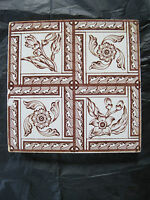 ANTIQUE VICTORIAN TRANSFER PRINT WALL TILE C1880 - ARTS & CRAFTS INSPIRED?